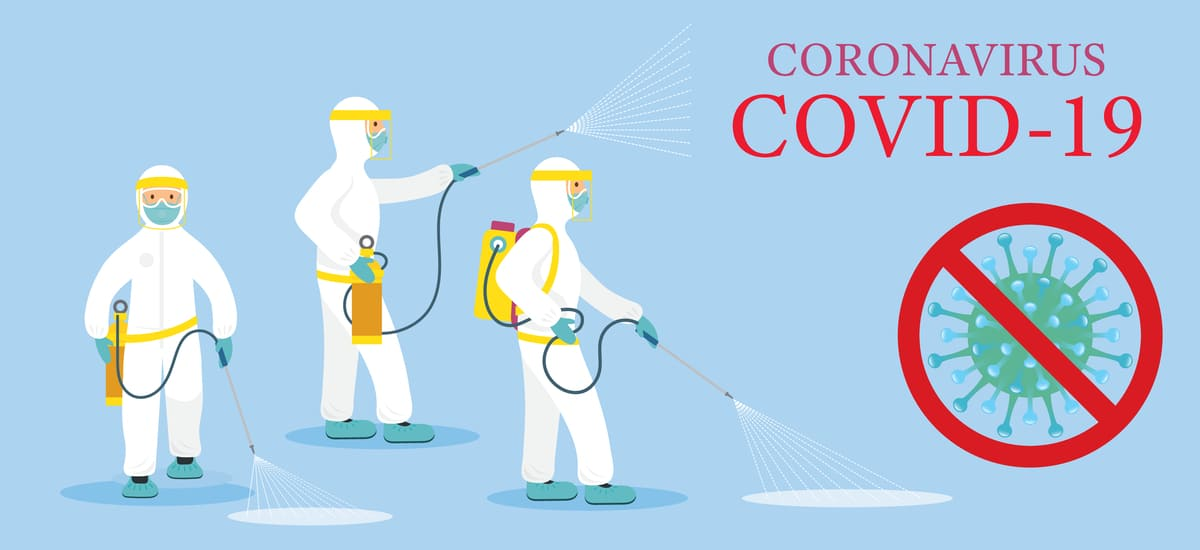 新型コロナウィルス除菌部隊